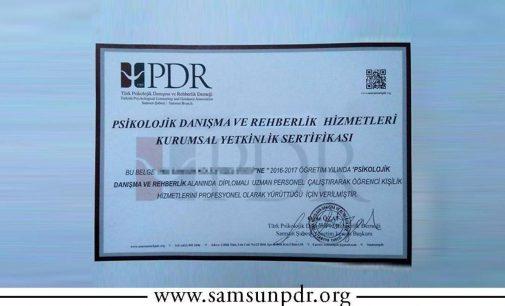 PDR Kurumsal Yetkinlik Sertifikası