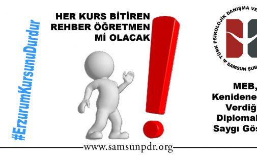 Her Önüne Gelen Rehber Öğretmen Mi Olacak #ErzurumKursunaHayır!