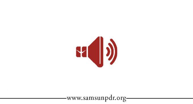 #SamsunPDR, Her An Yanınızda…
