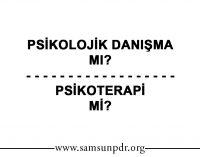 Psikolojik Danışma mı Psikoterapi mi?